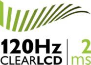 Clear LCD de 120 Hz, desempenho 2ms: nitidez de movimentos