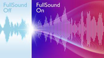 """Fullsound™"" – atgaivinkite MP3 muziką"