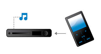 MP3 Link plays music from portable media players