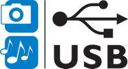 Foto's en muziek weergeven via USB