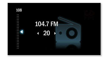 FM radio with 20 presets for more music options