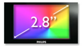 "7.1 cm (2.8"") QVGA LCD display"