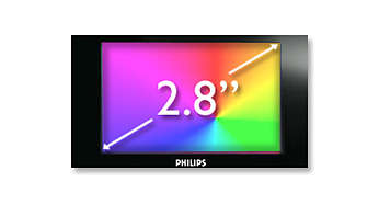 "7.1cm/2.8"" QVGA LCD color display for superb video enjoyment"