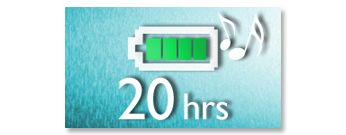 Redare până la 20 de ore de muzică