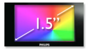 "1.5"" Full color display"