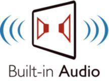 Built-in stereo audio