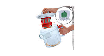 Hygienic semi-automatic filter-cleaning system