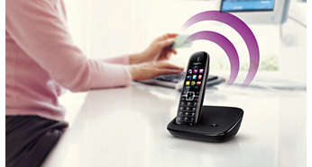 Handset speakerphone allows you to talk hands-free