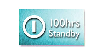 Up to 100-hour standby time*
