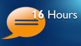 Up to 16 hours talk time