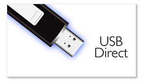 USB directo para una fácil música MP3