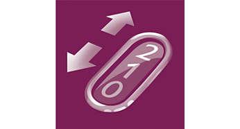 Hassas epilasyon ve maksimum performans için iki hız ayarı