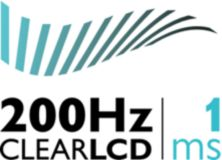 200 Hz Clear LCD* (1 ms)