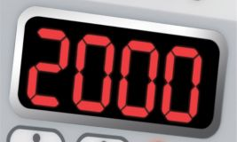 Large 4-digit LED display