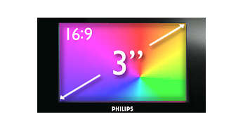 "7.6 cm/3"" wide-QVGA color display for superb video enjoyment"