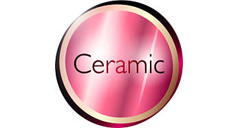 Ceramic Tourmaline coating for healthy shiny hair