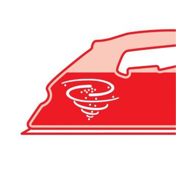 Ползунок очистки накипи для легкого вымывания частиц накипи из утюга