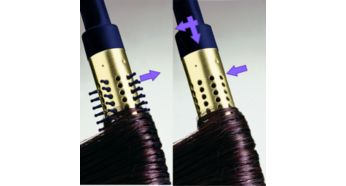 Retractable bristle brush for easy curling