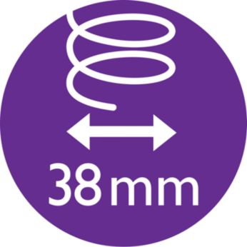 38-мм термочетка за омекотяване на косата