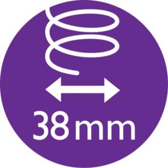 38мм термощетка делает волосы более гладкими и блестящими