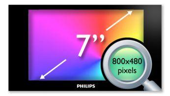 """Afişaj LCD de 17,8 cm (7"""") de înaltă densitate (800x480 pixeli)"""