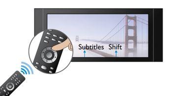 Comutarea subtitrării pentru ecran lat fără subtitrări lipsă