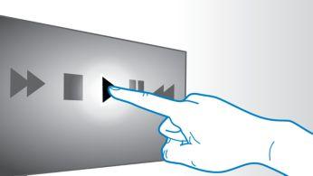 Panou tactil pentru redare şi control al volumului intuitive