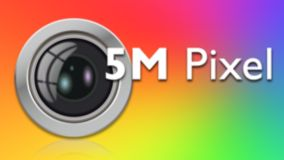 5 MPixel AF camera with flash