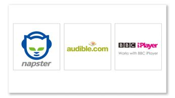����� ������� ����� ��������� Napster, Audible � BBC iPlayer