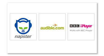 More content choice, with Napster, Audible and BBC iPlayer