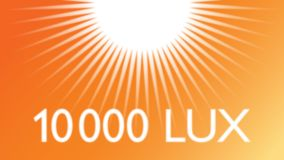 10,000 lux light intensity