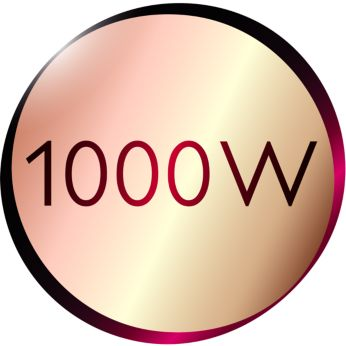 1000 Watt for faster heating