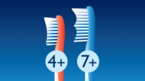 Age-appropriate brush heads