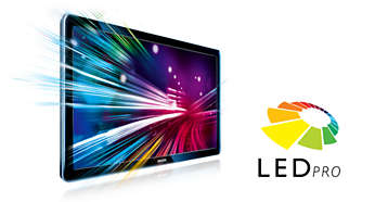 LED Pro for extreme contrast and brilliance