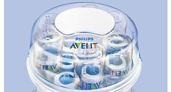 Holds six Philips Avent bottles