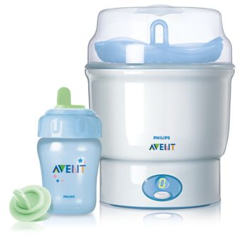 Entire cup can be sterilized for hygiene purposes