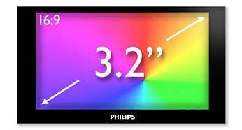 "3.2"" HVGA color display for superb video enjoyment"