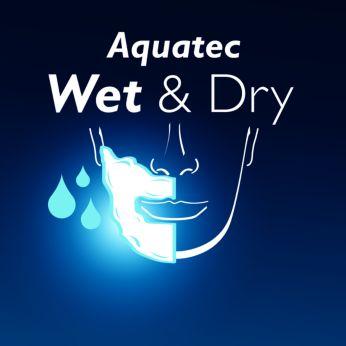 Sellado Aquatec: un afeitado seco confortable y un afeitado húmedo refrescante
