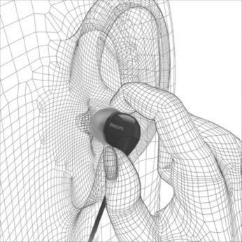 Rahatça takılan son derece küçük kulak içi kulaklık