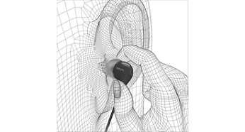 Ultrapequeno para um encaixe intra-auricular confortável