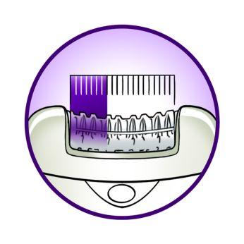 Cabeça extralarga: remove mais pelos em um único movimento
