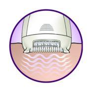 Vibrierendes Massageelement stimuliert und glättet die Haut