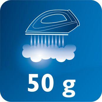 Подача пара до 50 г/мин для лучшего разглаживания складок