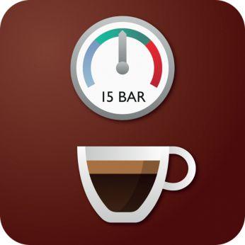 Давление помпы 15 бар