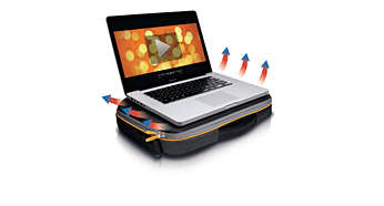 Heat Protect™ to prevent notebook heat buildup