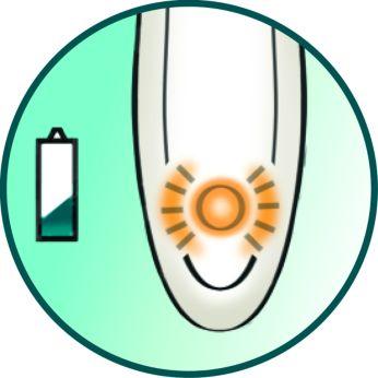 Low-battery indicator light