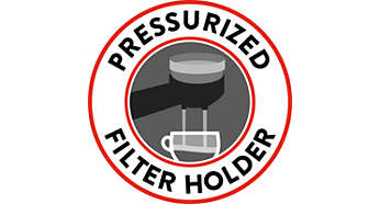 Pressurised filter holder for perfect crema