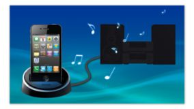 Optional iPod/iPhone dock