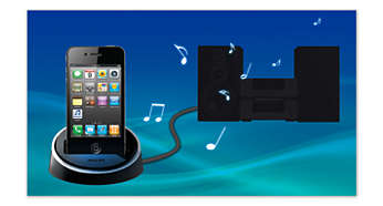 Optional iPod/iPhone dock for convenient music playback