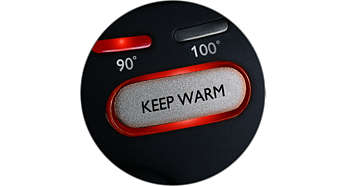 Keep Warm function keeps the water at your set temperature
